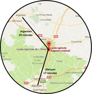 Le lycée agricole se situe à l'entrée de Sées quand vous arrivez d'Alençon! Il sera indiqué par des panneaux, vous ne pourrez pas vous perdre !